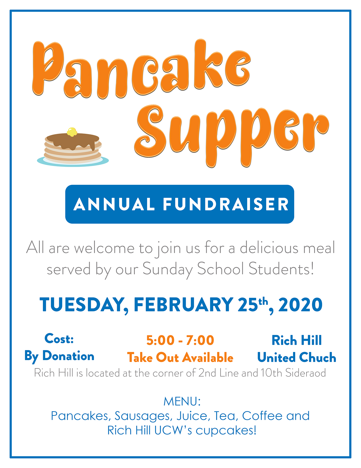 Pancake Supper @ Rich Hill United Chuch