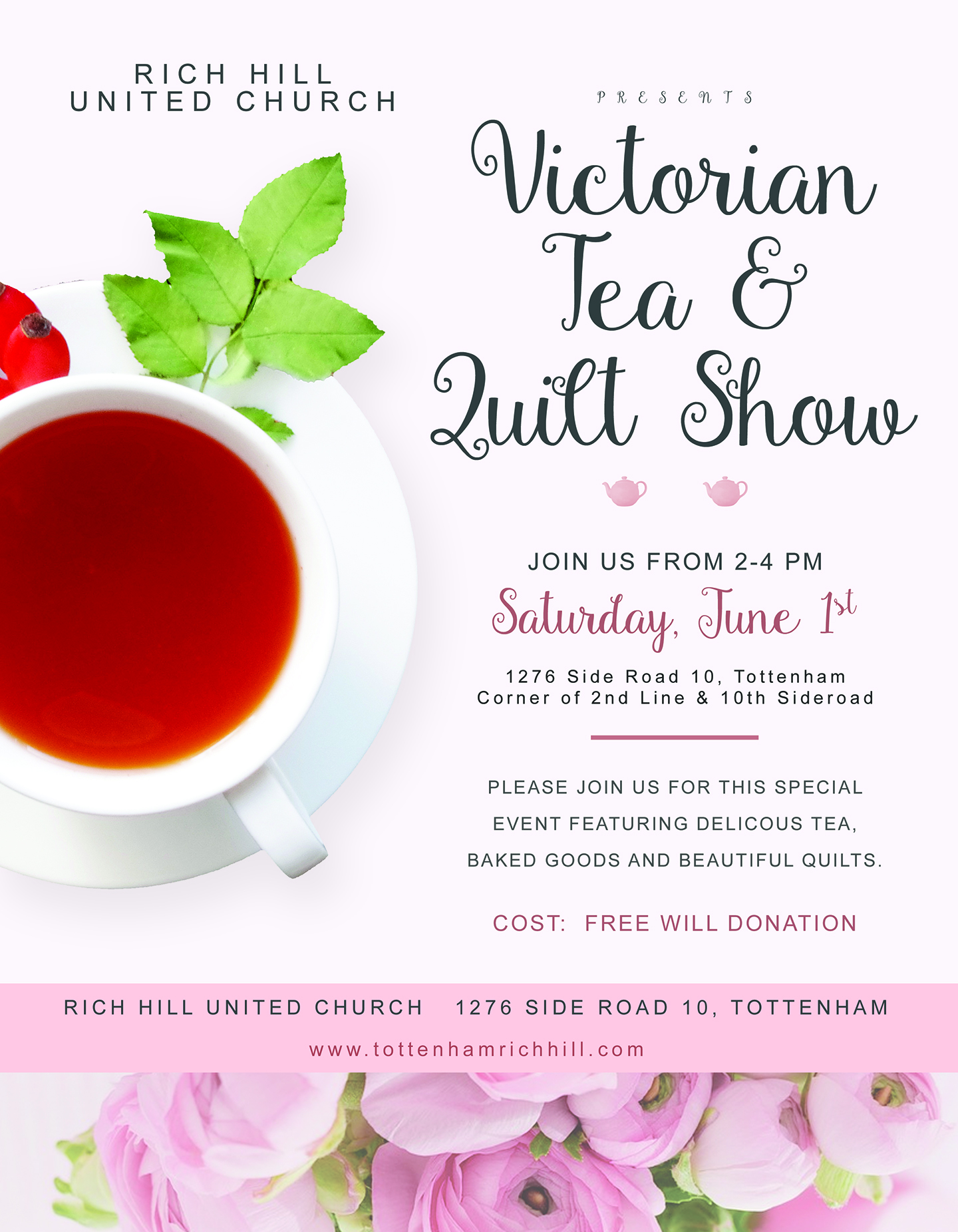 Victorian Tea & Quilt Show @ Rich Hill United Church